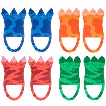 Dinosaur Foam Feet