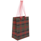 Red Plaid Gift Bag