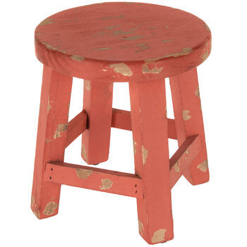 Distressed Stool Plant Stand