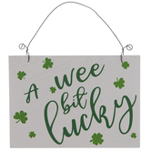 Wee Bit Lucky Reversible Wood Ornament