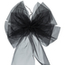 Black Organza Bow