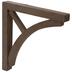 Brown Wood Curved Bracket