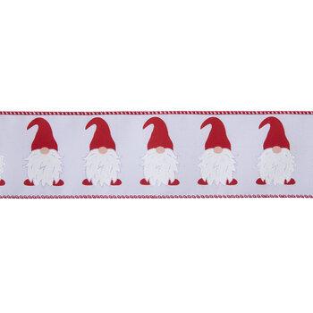 """Santa Gnomes Wired Edge Ribbon - 2 1/2"""""""