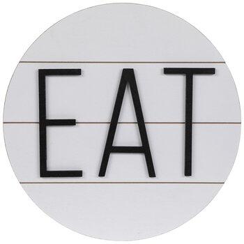 Eat Round Wood Wall Decor