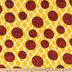 Yellow & White Basketball Fleece Fabric