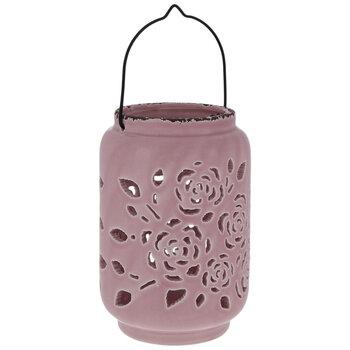 Pink Rose Cutout Lantern