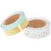 Mint & Gold Confetti & Striped Washi Tape