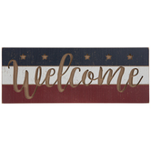 Patriotic Welcome Wood Wall Decor
