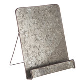 Galvanized Metal Tablet Stand