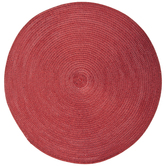 Red Metallic Round Woven Placemat
