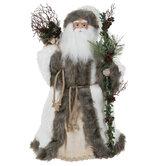 White & Gray Santa Claus Tree Topper
