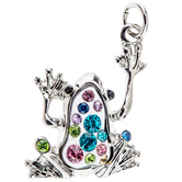 Frog Charm With Rhinestones