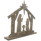 Wood Nativity Silhouette