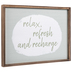 Relax Refresh And Recharge Wood Wall Decor