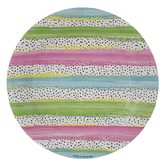 Tropical Stripes Paper Plates - Small