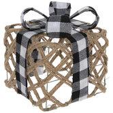 Buffalo Check & Jute Gift Box Decor