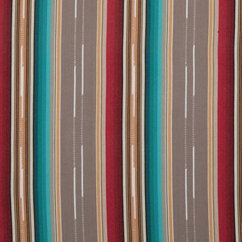 Gray Striped Woven Duck Cloth Fabric