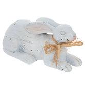White Resting Slim Bunny
