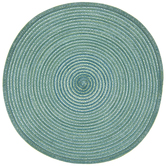 Blue Ombre Braided Round Placemat