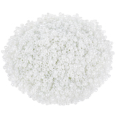 Opaque White Luster Glass Seed Beads - 12/0