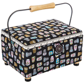 Rectangle Sewing Basket with Handle