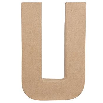 """Paper Mache Letter U - 8 1/4"""""""