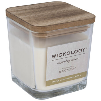 Maple & Cream Latte Wood Wick Jar Candle