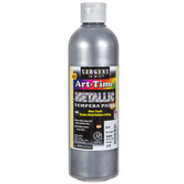 Silver Metallic Tempera Paint - 16 Ounce