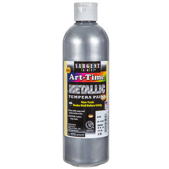 Silver Metallic Tempera Paint - 16 Ounce