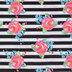 Watercolor Rose Striped Apparel Fabric