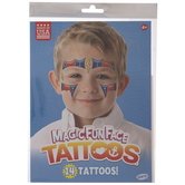 Super Hero Glitter Temporary Face Tattoos