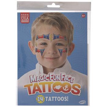 Super Hero Glitter Temporary Face Tattoos