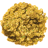 Gold Holographic Round Cup Sequins - 5mm