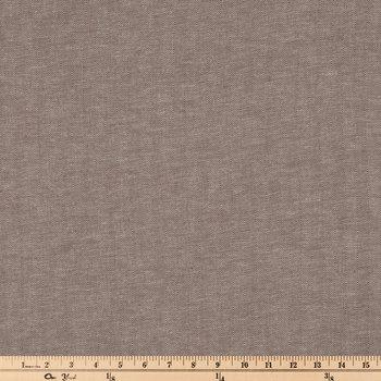 Brown Herringbone Cotton Calico Fabric