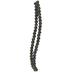 Black & Metallic Round Crackle Glass Bead Strands