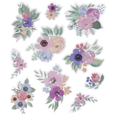 Pink & Purple Floral Stickers