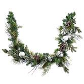 Ornament & Pinecone Pine Garland