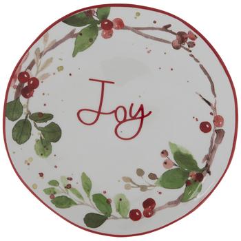 Joy Holly Branch Plate