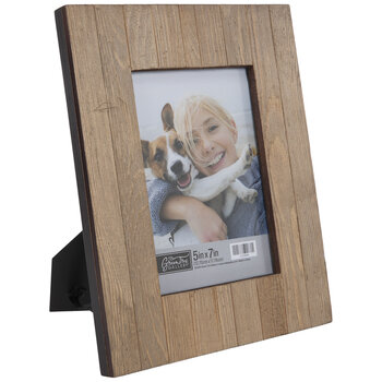 Wire Brushed Plank Wood Frame