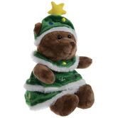 Bear Wearing Christmas Tree Plush
