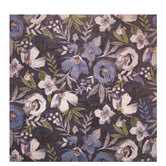 "Blue & White Floral Scrapbook Paper - 12"" x 12"""