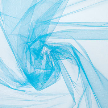 Turquoise Nylon Tulle Fabric