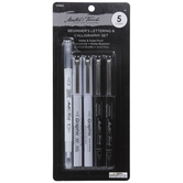 Black Master's Touch Beginner's Lettering & Calligraphy Markers - 5 Piece Set