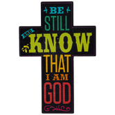 Be Still And Know That I Am God Cross Painted Wood Shape