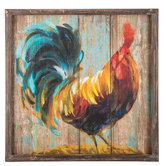 Rustic Rooster Wood Wall Decor