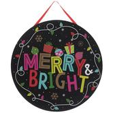 Merry & Bright Wreath Ornament