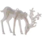 Iridescent Head Down Reindeer Ornament