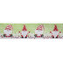 Merry Christmas Gnomes Wired Edge Ribbon - 2 1/2