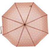 Peach & White Polka Dot Umbrella