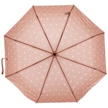 Peach & White Polka Dot Umbrella